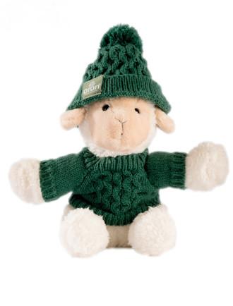 Small Sheep In Aran Sweater & Bobble Hat