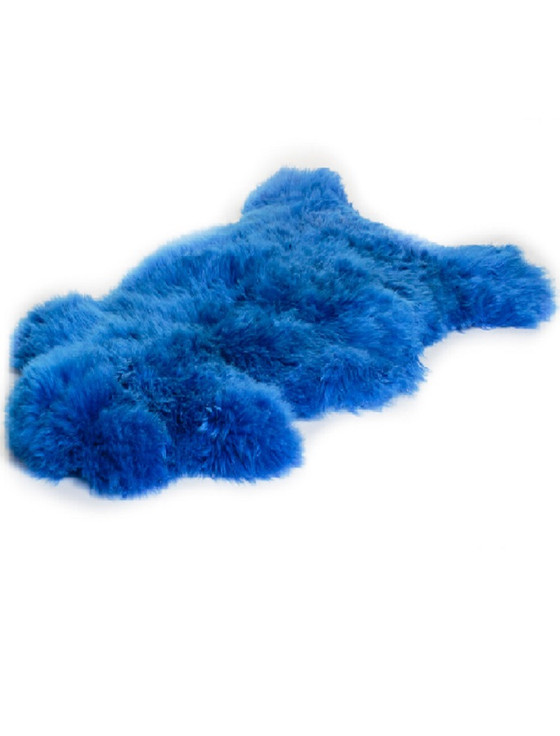 Irish Sheepskin Rug - Blue