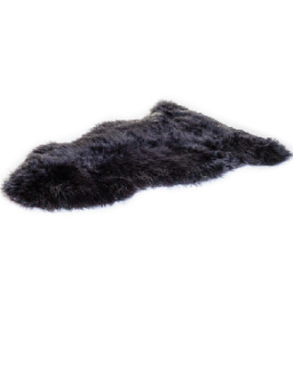 Irish Sheepskin Rug - Black