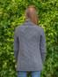 Women's Two Button Aran Cardigan - Steel Marl