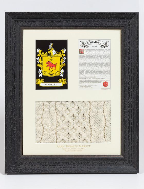 O'Malley Clan Aran & History Display