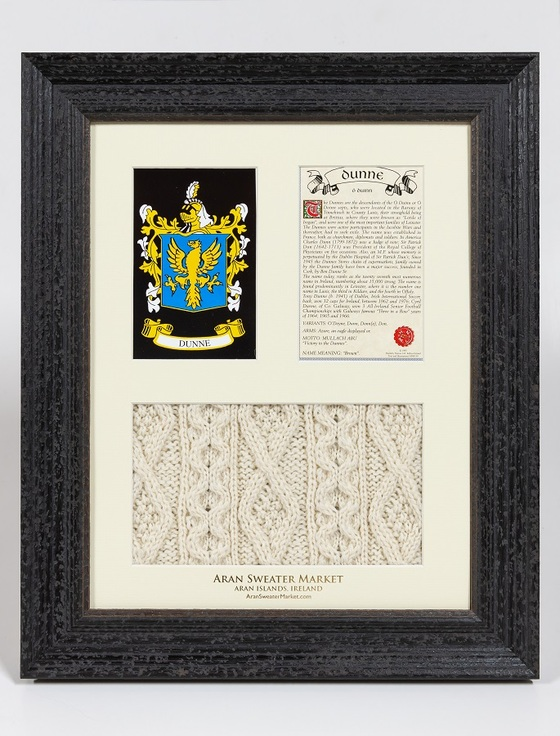 Dunne Clan Aran & History Display