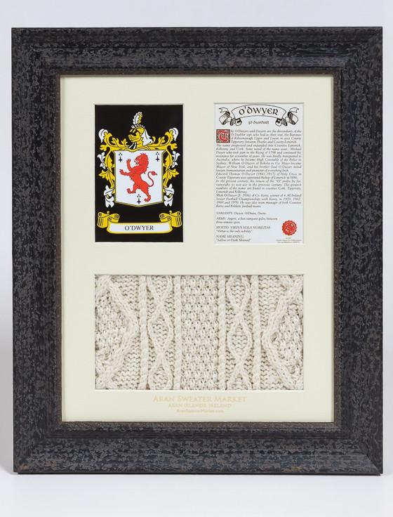 O'Dwyer Clan Aran & History Display