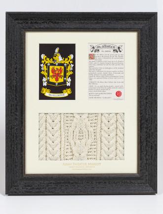 Mc Allister Clan Aran & History Display
