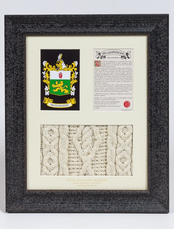 Mc Guinness Clan Aran & History Display