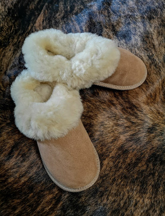 Women's Open Irish Sheepskin Slippers