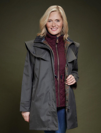 Skellig Ladies Waterproof 3/4 Coat - Olive