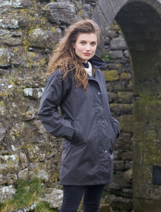 Trinity Ladies Waterproof 3/4 Coat - Olive