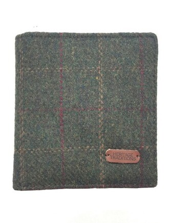 Tweed Wallet- Green Box Check
