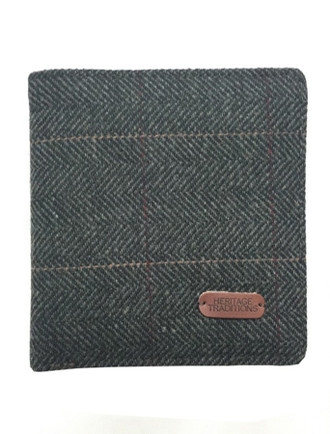 Tweed Wallet- Grey Herringbone