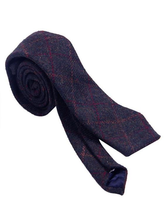 Tweed Neck Tie- Blue Box Check