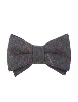 Tweed Bow Tie- Green Box Check