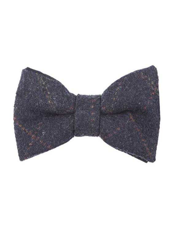 Tweed Bow Tie - Blue Box Check