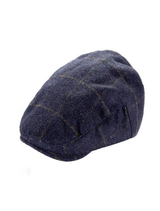 Tweed Classic Flat Cap- Blue Box Check