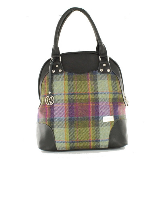 Abbie Tweed Bag - Green And Pink Plaid