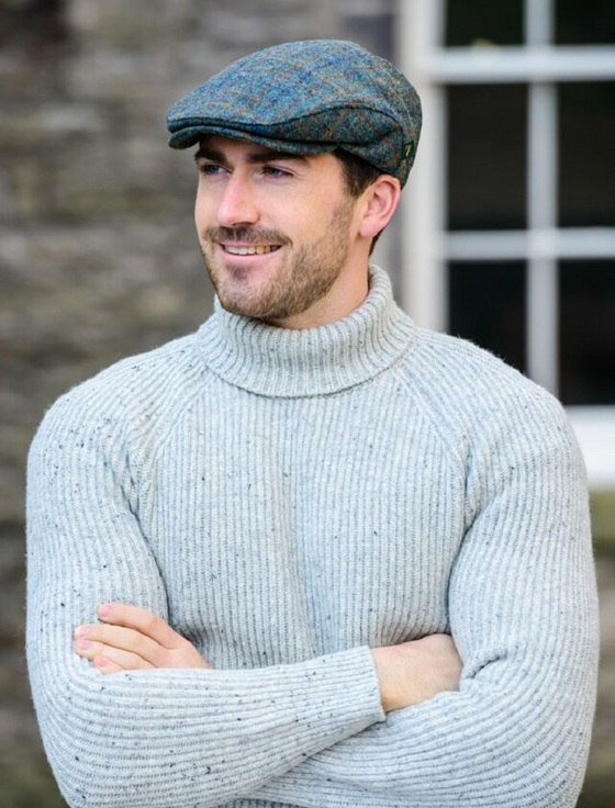 Trinity Tweed Flat Cap - Brown And Navy Check