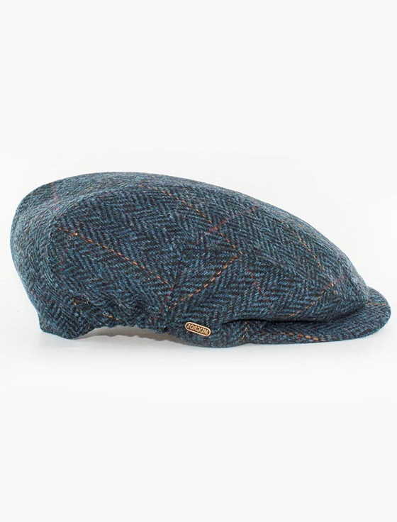 Kerry Tweed Flat Cap - Denim