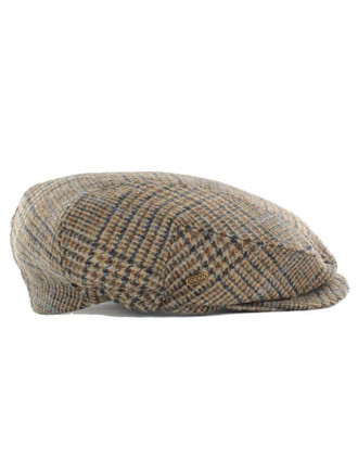 Kerry Tweed Flat Cap - Brown Check