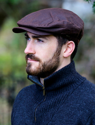 Kerry Wax Flat Cap - Brown