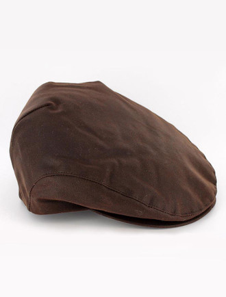 Trinity Wax Flat Cap - Brown