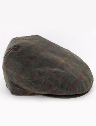 Trinity Wax Flat Cap - Tartan