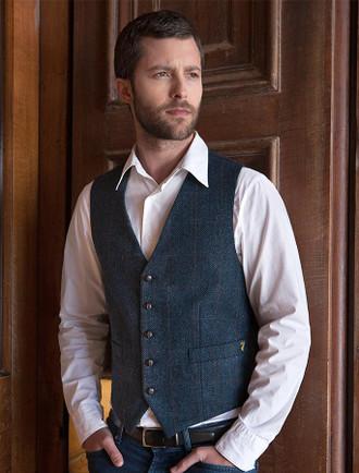 Tweed Waistcoat - Denim