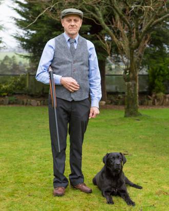 Men's Irish Tweed Grey Herringbone Waistcoat