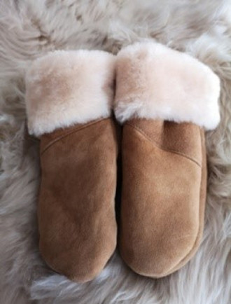 Sheepskin Mittens- Chestnut