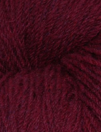 Aran Wool Knitting Hanks - Plum Tweed
