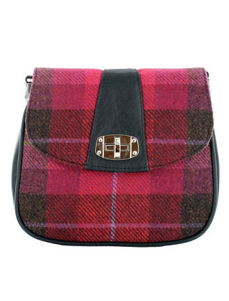 Sarah Tweed Bag - Pink Plaid