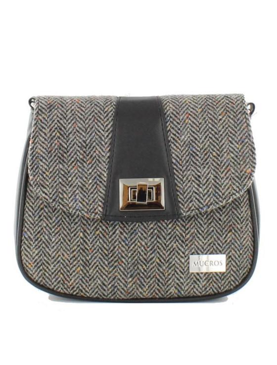 Sarah Tweed Bag - Grey