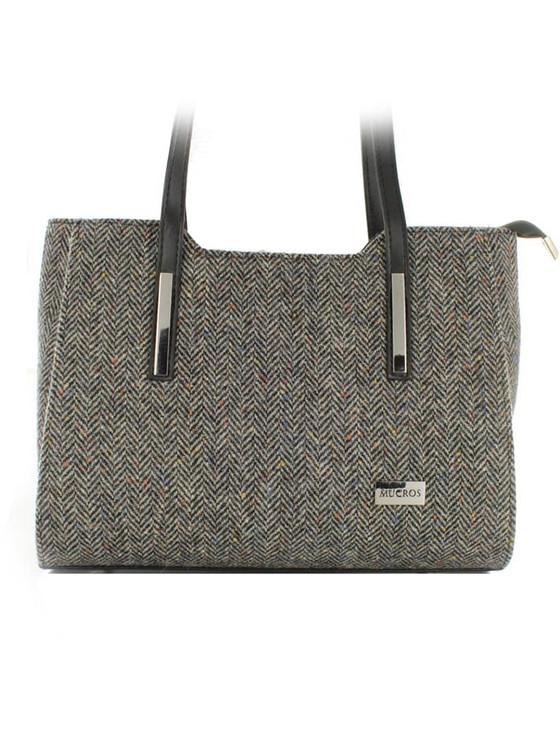 Brid Tweed Bag - Grey