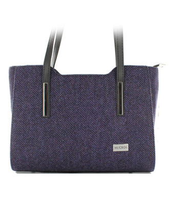 Brid Tweed Bag - Dark Purple