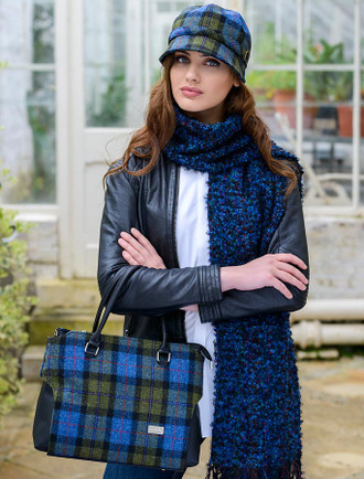 Emily Tweed Bag - Blue Green Plaid