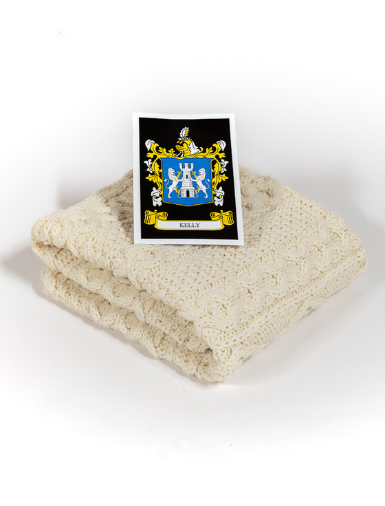 Kelly Clan Aran Baby Blanket