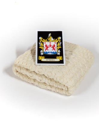 O'Neill Clan Aran Baby Blanket