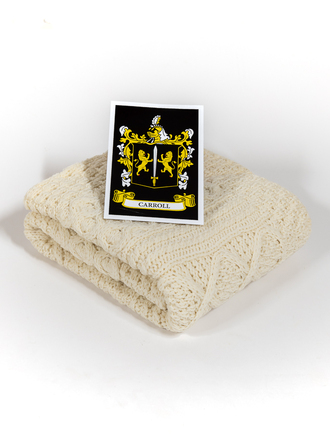 Carroll Clan Aran Baby Blanket