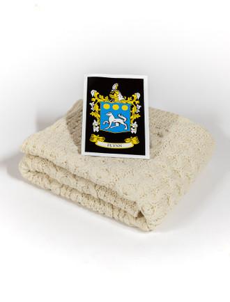 Flynn Clan Aran Baby Blanket