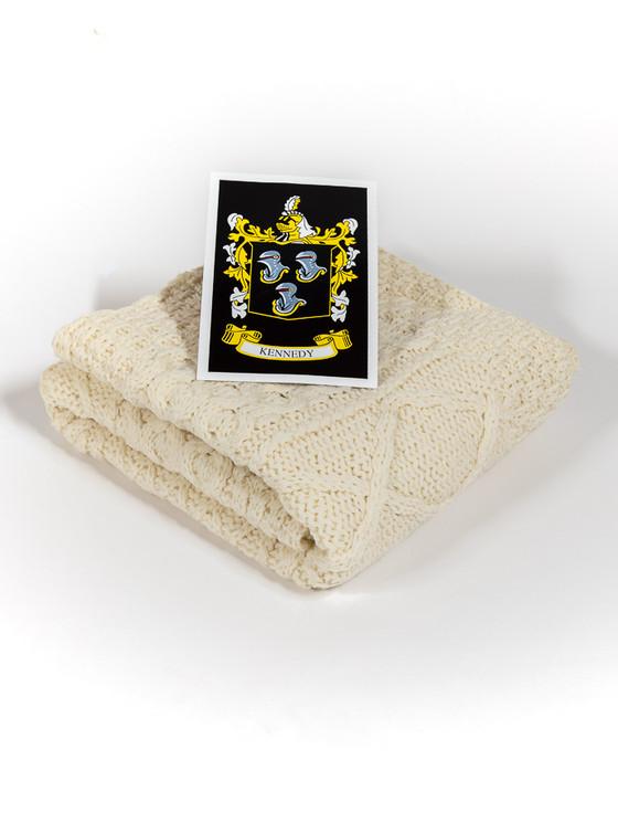Kennedy Clan Aran Baby Blanket