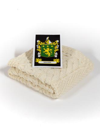 Moore Clan Aran Baby Blanket