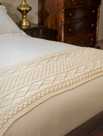 Murphy Clan Aran Bed Runner