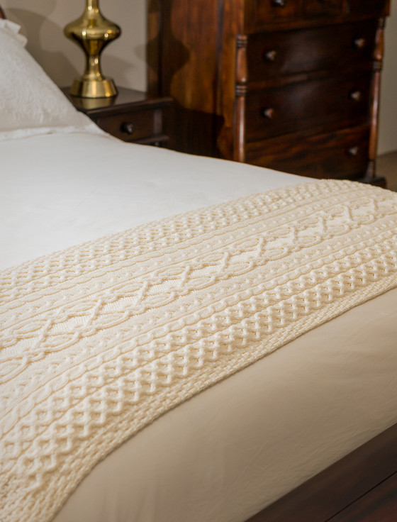 O'Neill Clan Aran Bed Runner