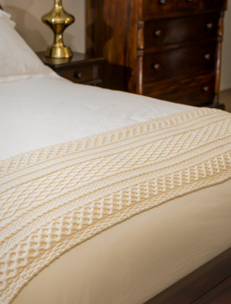 Gallagher Clan Aran Bed Runner