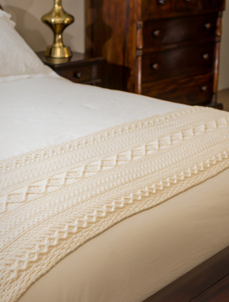 Burke Clan Aran Bed Runner