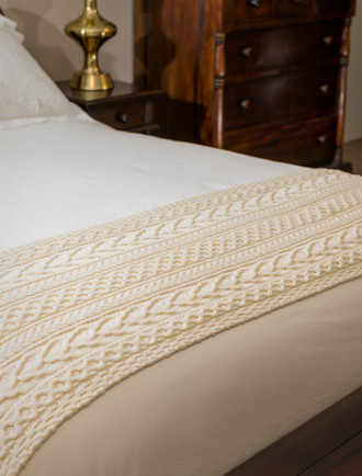 Lynch Clan Aran Bed Runner