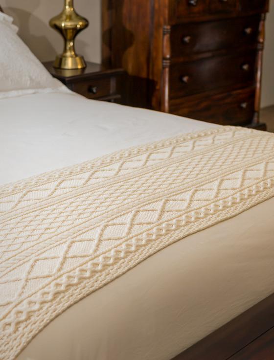 Kennedy Clan Aran Bed Runner