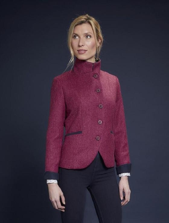 Saoirse Tweed Blazer – Winter Pink