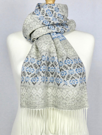 Celtic Fairisle Scarf - Bluebell