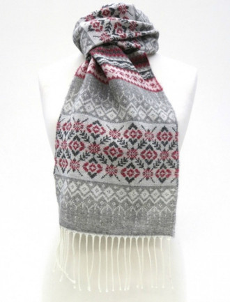 Celtic Fairisle Scarf - Poppy