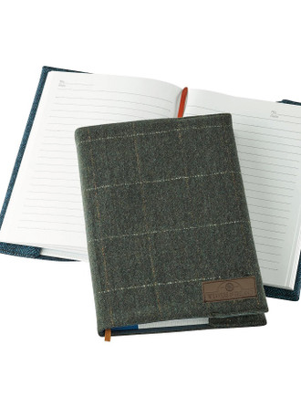 Weavers Of Ireland Notebook - Tweed Green Box Check Cover